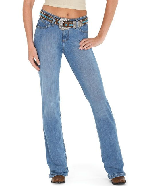 4cf666bc You'll never want to ride in another pair of jeans. The Wrangler Cowgirl  Cut Ultimate Riding jean in Q-Baby Fit has a slimming, stylish cut and  features ...
