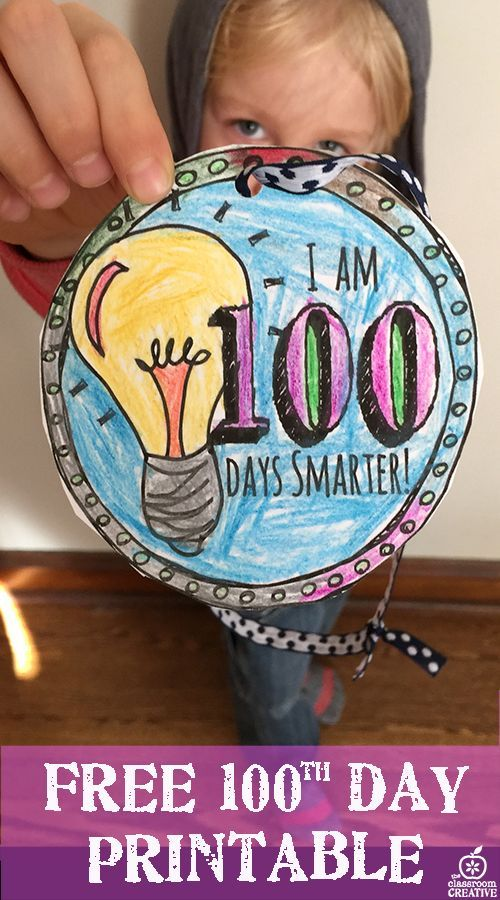 photograph regarding 100 Days Smarter Printable identify 100th Working day of College Game: Free of charge Printable 100 Times
