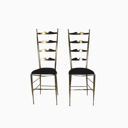 Italienische Stühle aus Messing, 1950, 2er Set Jetzt bestellen - esszimmer 1950