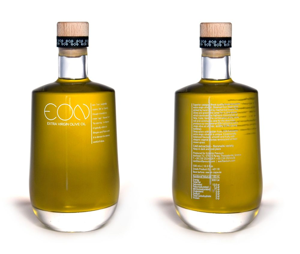 EON Extra Virgin Olive Oil | Bottle, Oil and Packaging design