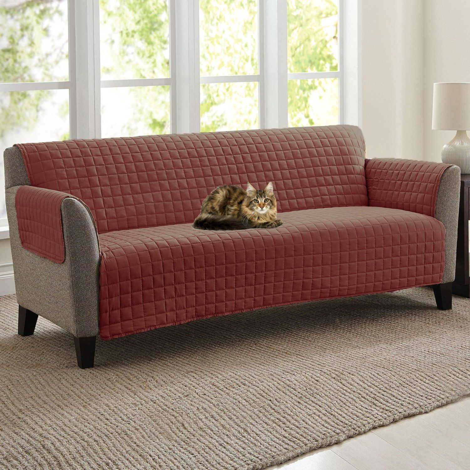 Quilted Microfiber Pet Dog Couch Sofa