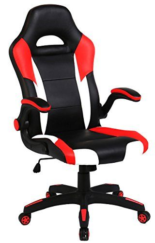office leather chair. SEATZONE Racing Car Style Bucket Seat Gaming Chair, Curved High-Back Executive Swivel Office Leather Adjustable Computer Chair With Flip-Up \u2026 R