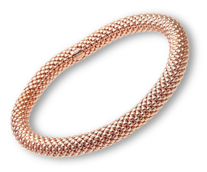 Citerna Yellow Gold Plated Silver Beaded Link Stretch Bracelet 19 cm long PX0mEg