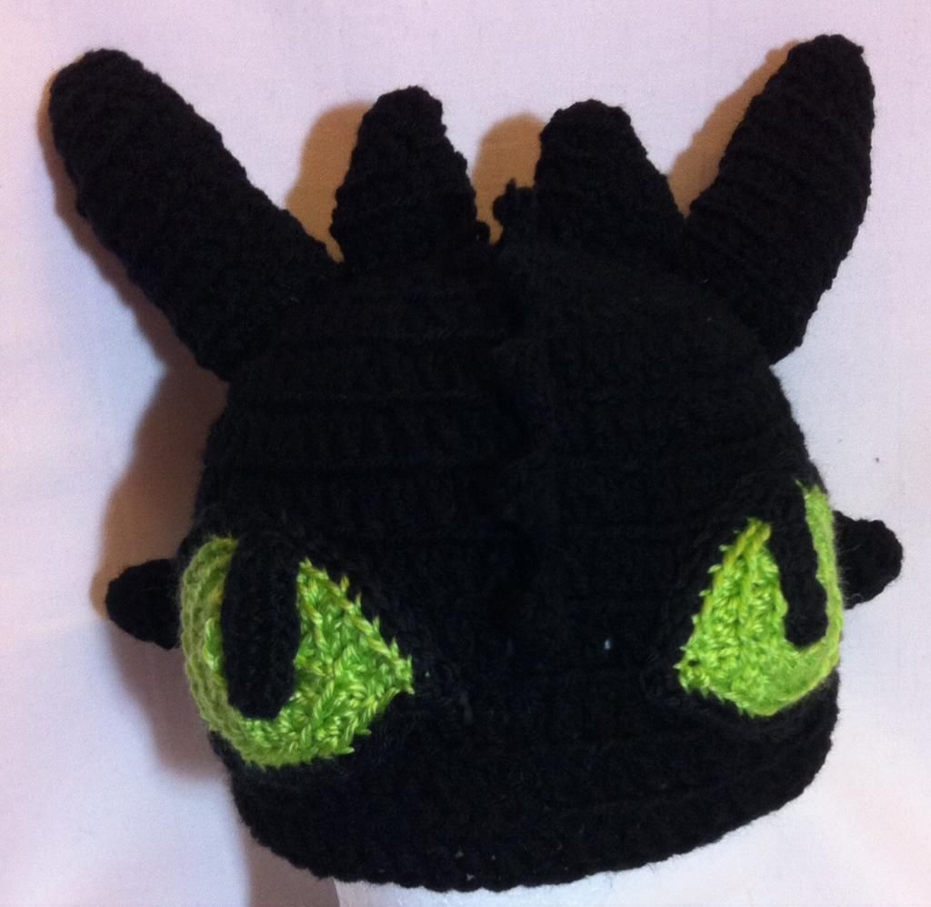 Toothless Inspired Hat 2 Sizes Toothless Crochet Accessories