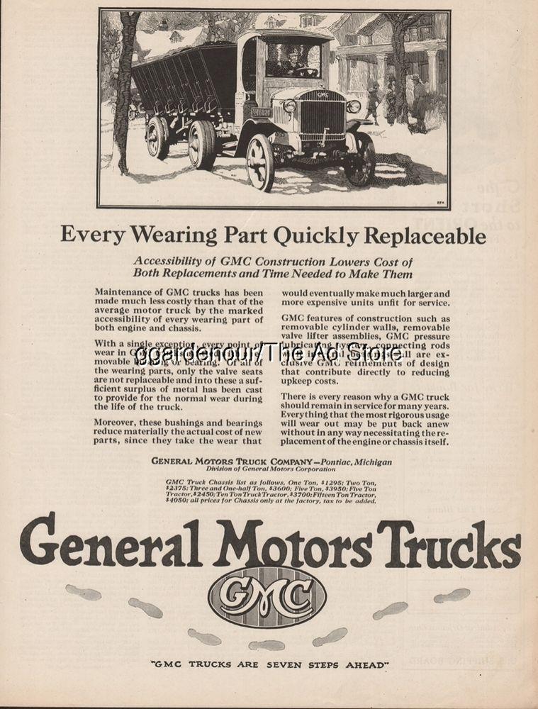 1923 Gmc General Motors Gm Truck Pontiac Mi Vintage 1920s