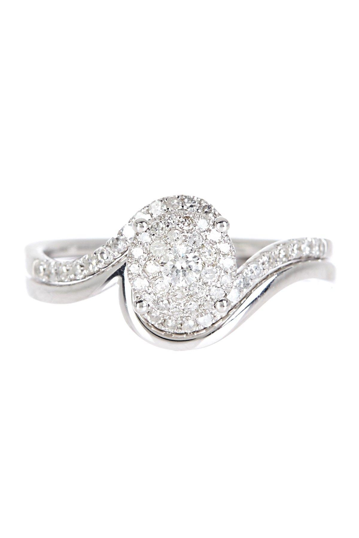 Brilliant 14k White Gold Diamond Ring