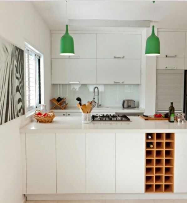 Wine storage, good idea for Leftover space in the Kitchen | Открытые ...