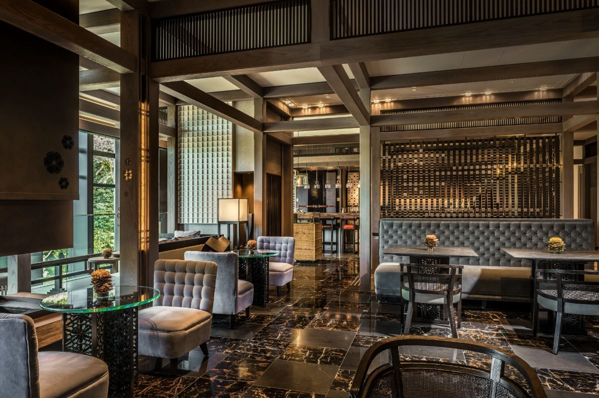 Lobby lounge of the Four Seasons Kyoto by HBA Design