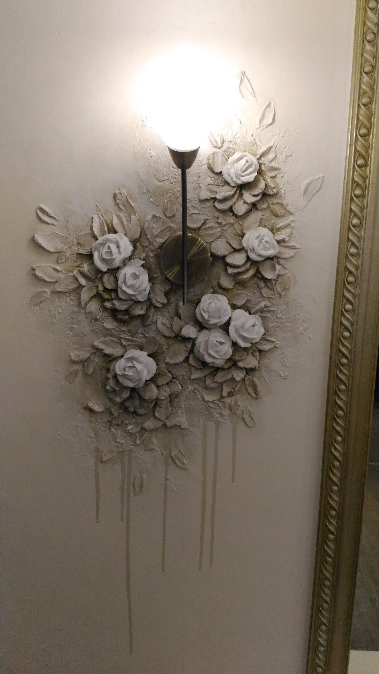 Inspiration For Plaster Mural That Moves Up Stairwell And Around Lighting Plaster Wall Art Plaster Crafts Plaster Art