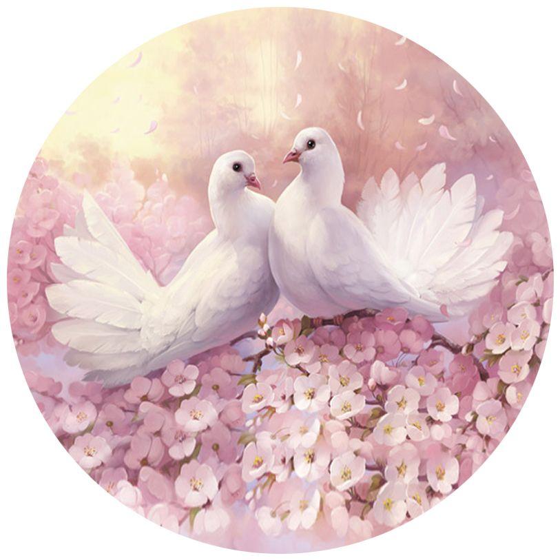 Красивые открытки к свадьбе с голубями