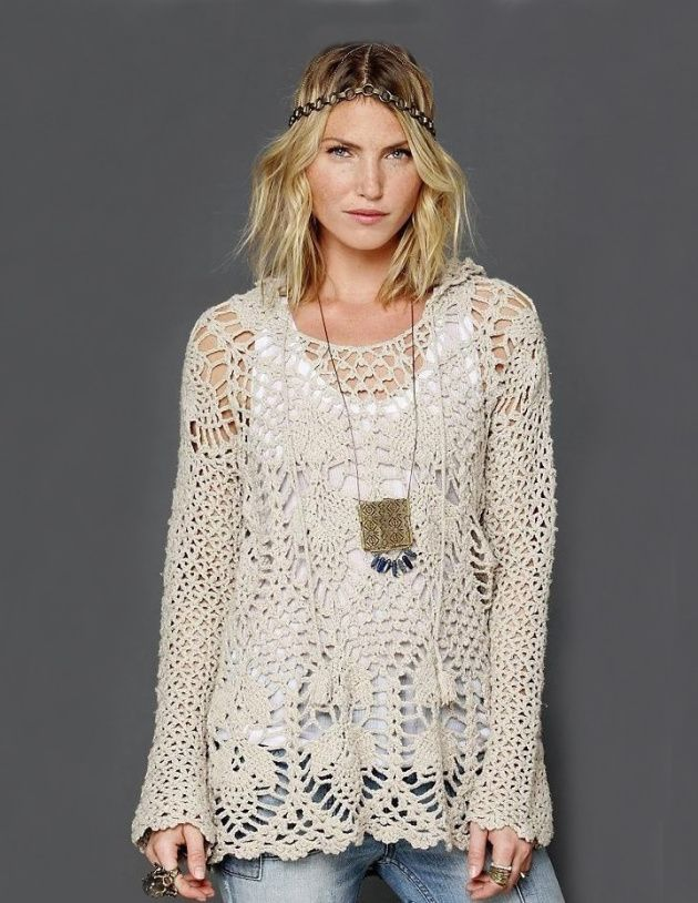 Crochet Tunic Pattern Hoodie By Free People English Crochet And