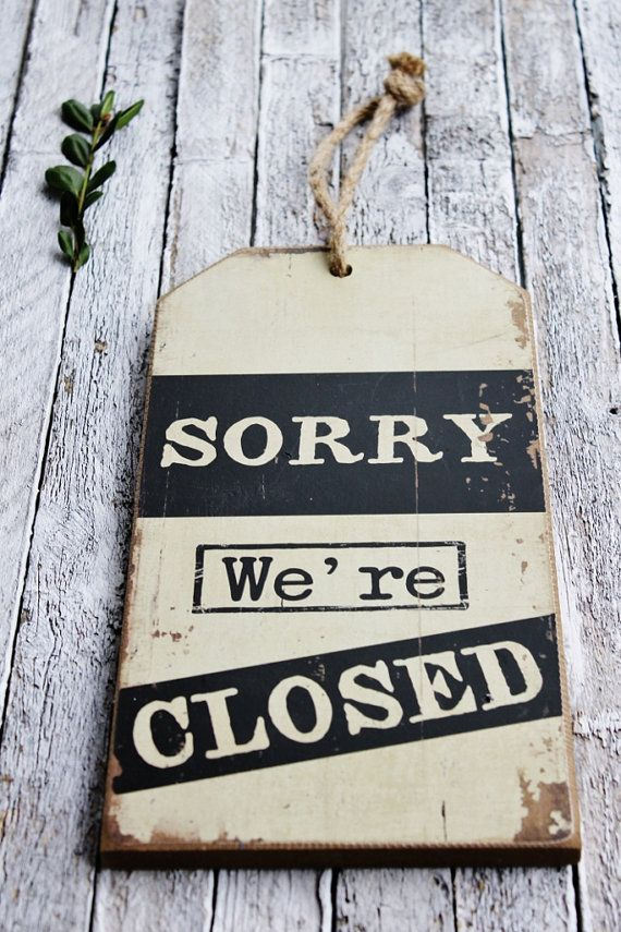 come in we u0026 39 re open metal signvintage looksorry by simplefindsco