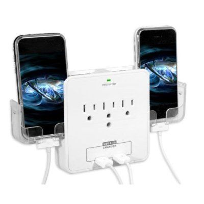RND Power Solutions Wall Power Station includes 3 AC Plugs and 2 USB ports with Surge Protection. Also includes 2 slide-out holders for your Smartphone:Amazon:Cell Phones & Accessories