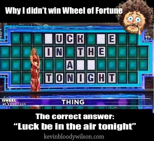 Wheel of fortune fuck me in the ass