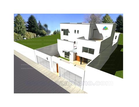 Imagen a rea de la fachada de la casa fachada for Fachadas de casas modernas en queretaro