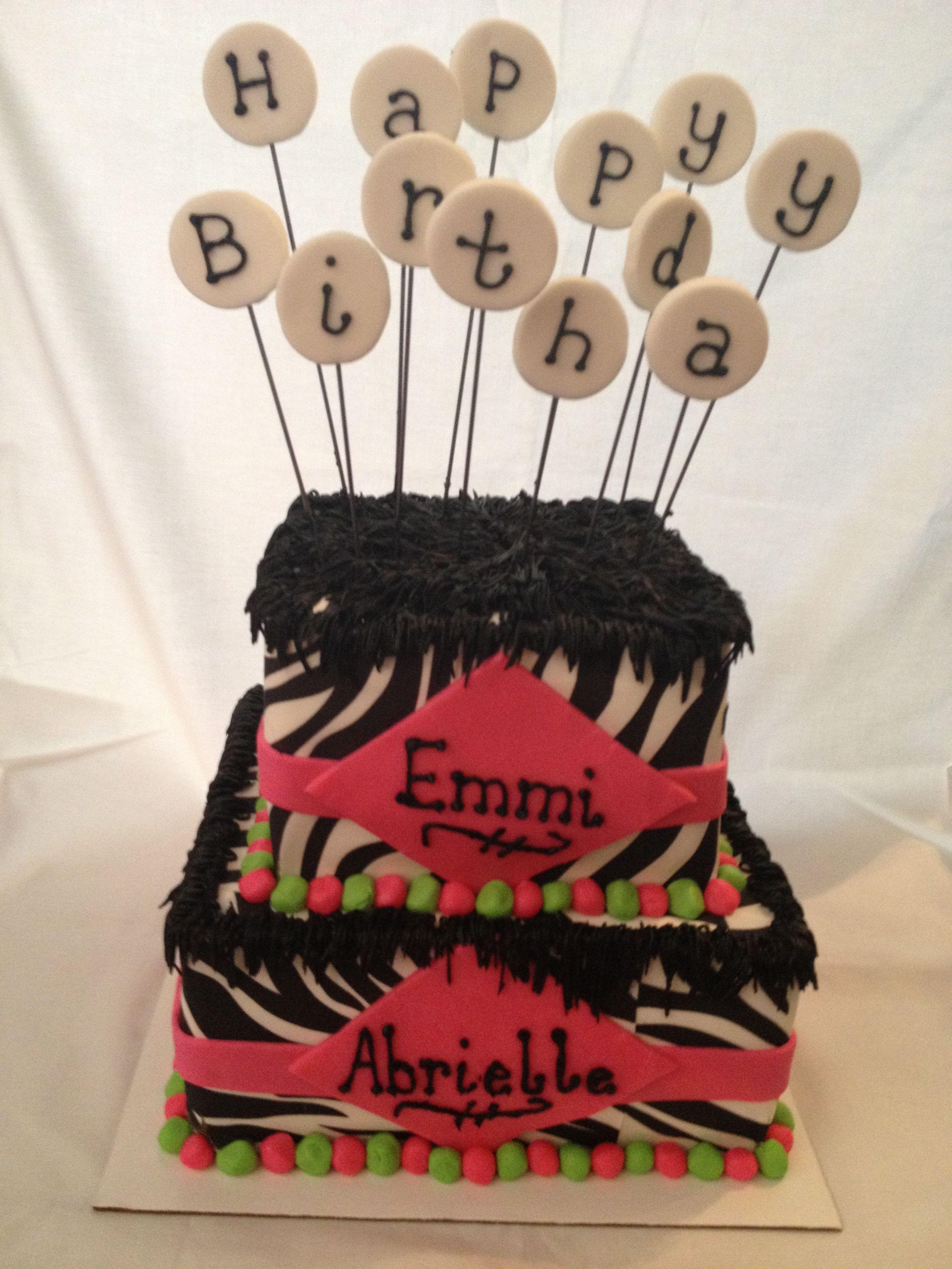 Emmi Abrielle B Day Cake Wiltoncontest Michaels Amarillo Tx