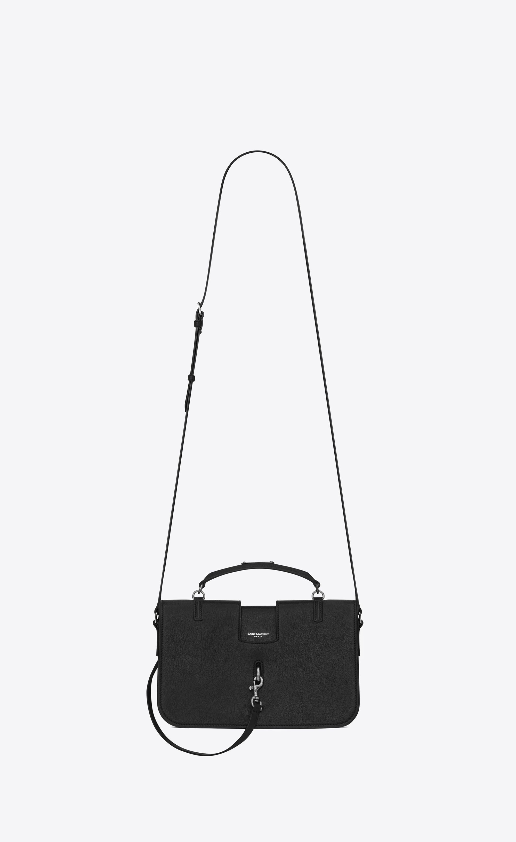 Saint Laurent Medium Charlotte Messenger Bag In Black Leather  f5f2b93aca1b8