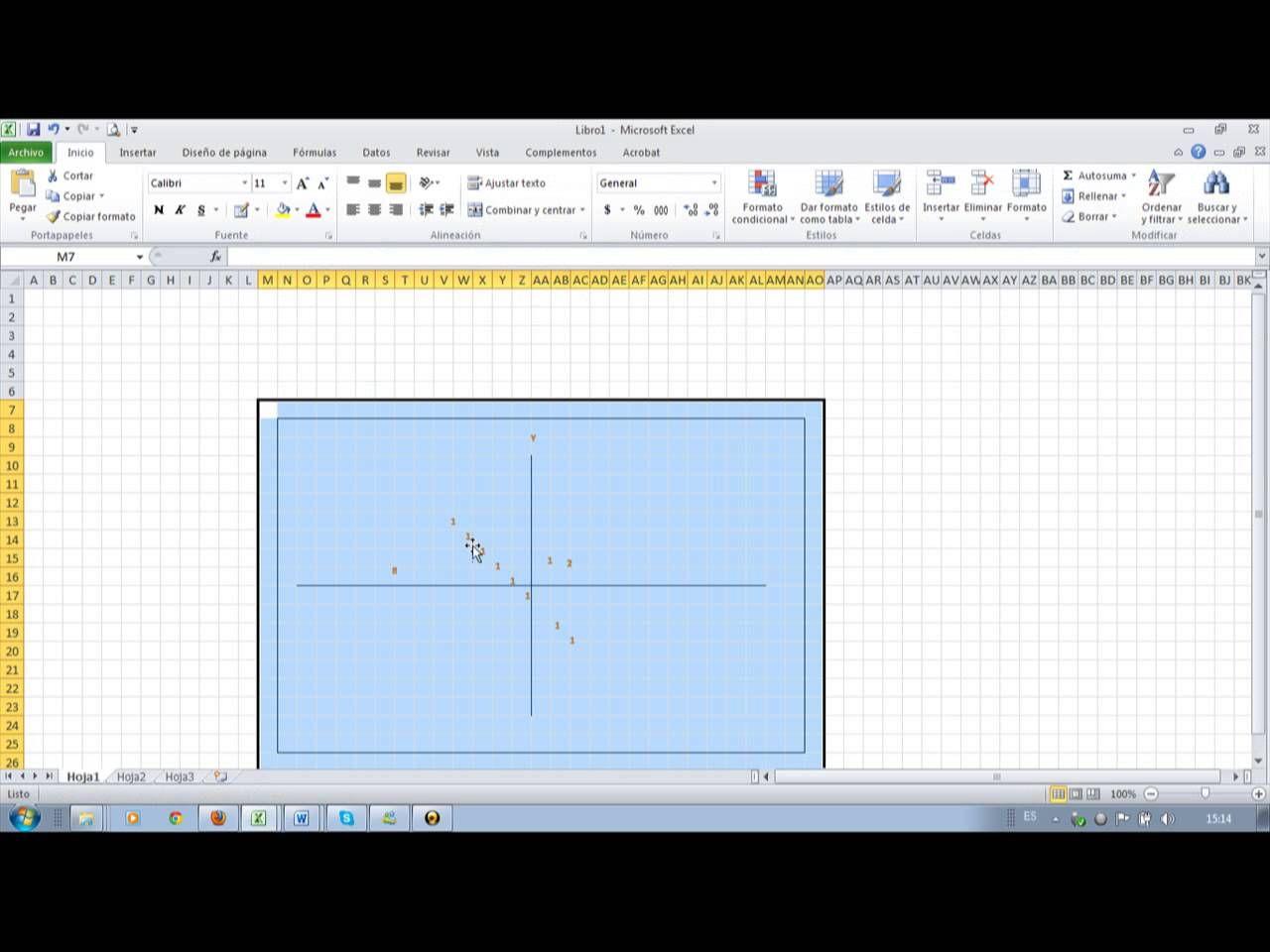 Como Graficar Un Plano Cartesiano En Microsoft Exel Y