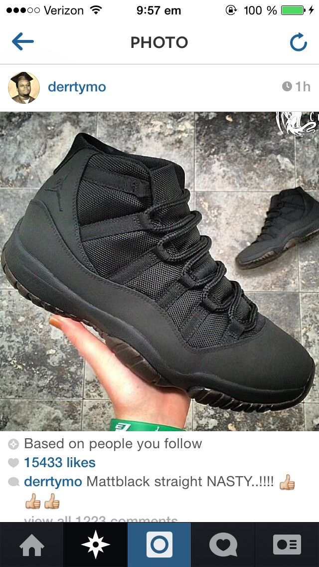 matte black jordans