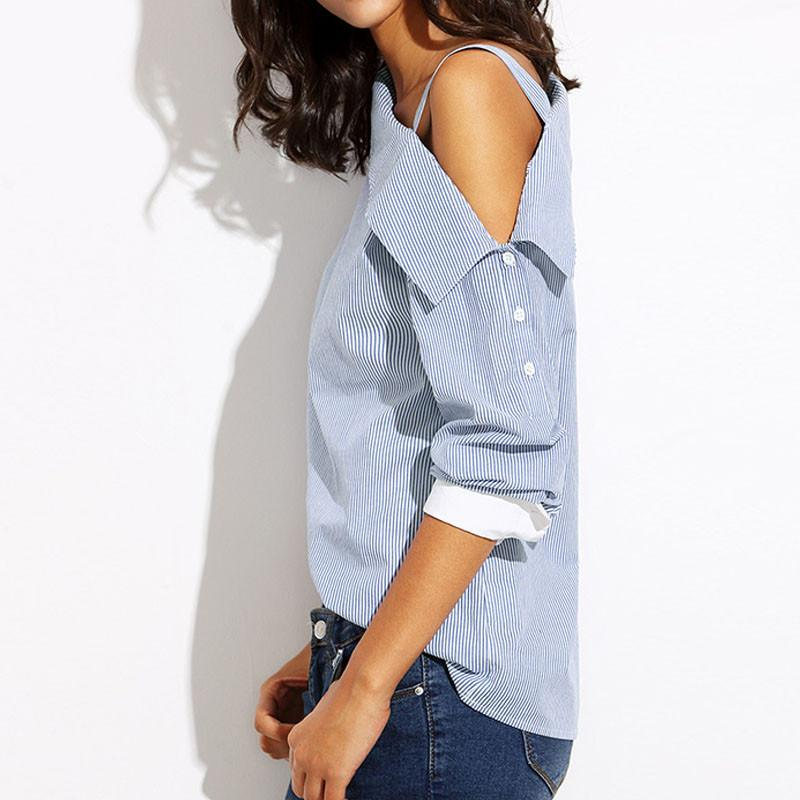 a30cf7bc5d Stylish Blue Striped Blouse perfect for every occasion! This striped blouse  in soft cottons can top off your look of sexy and casual.