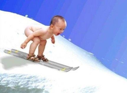 skiing baby ski pinterest skiing funny babies and snowboarding