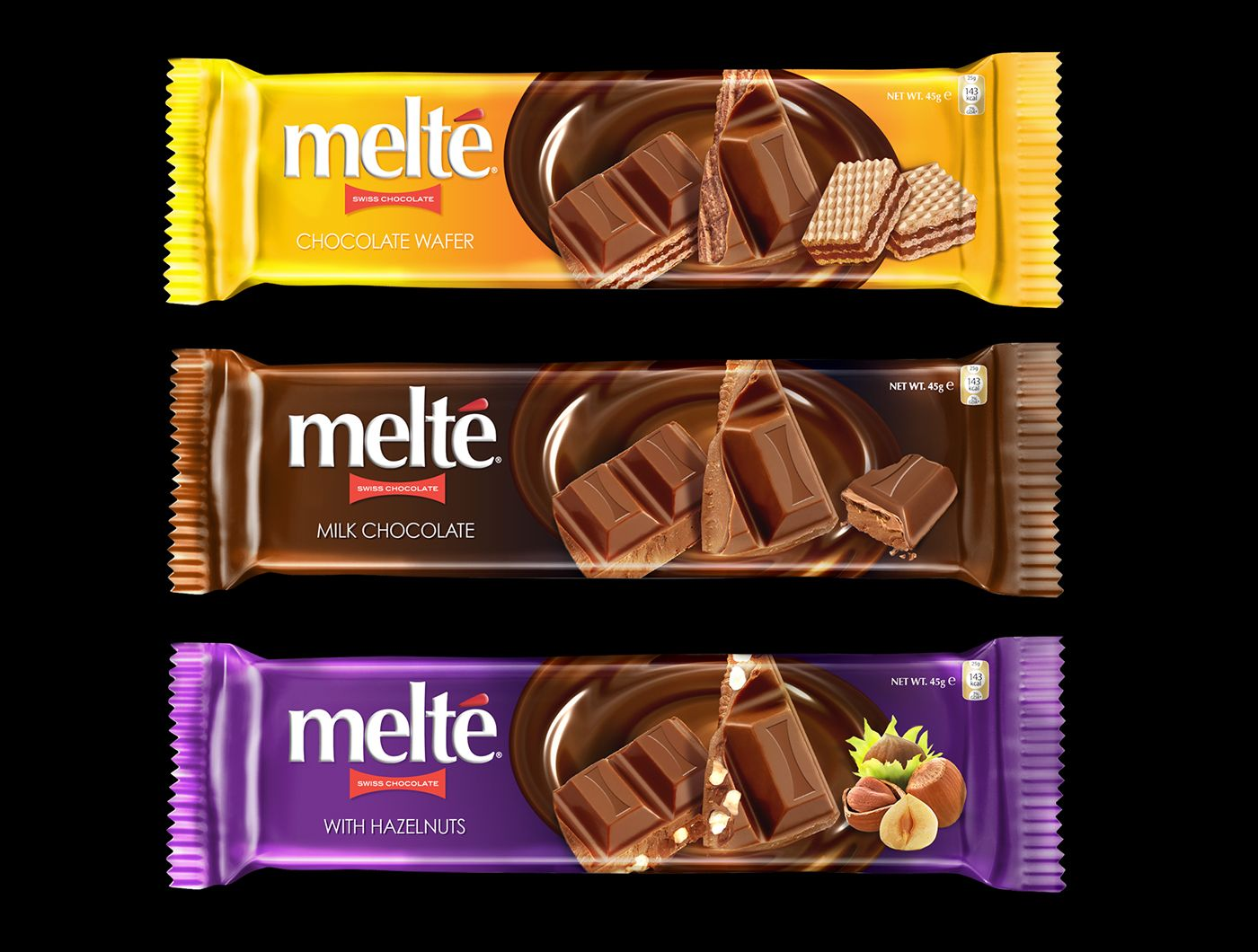 Melt'e Chocolate Packaging on Behance Chocolate