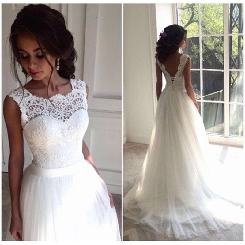Find More Wedding Dresses Information about Juliana Luxury Scalloped Lace A Line Wedding Dresses 2017 With Sashes Backless Tulle Plus Size Bridal Gowns Robe De Mariage WD71,High Quality dress apron,China dress qipao Suppliers, Cheap dress wear for toddler boys from Bealegantom Wedding Flagships Store on Aliexpress.com