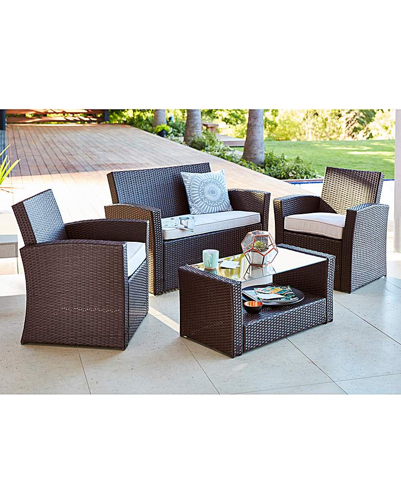 Kempton Coffee Set Brown Coffee Set Outdoor Furniture Sets