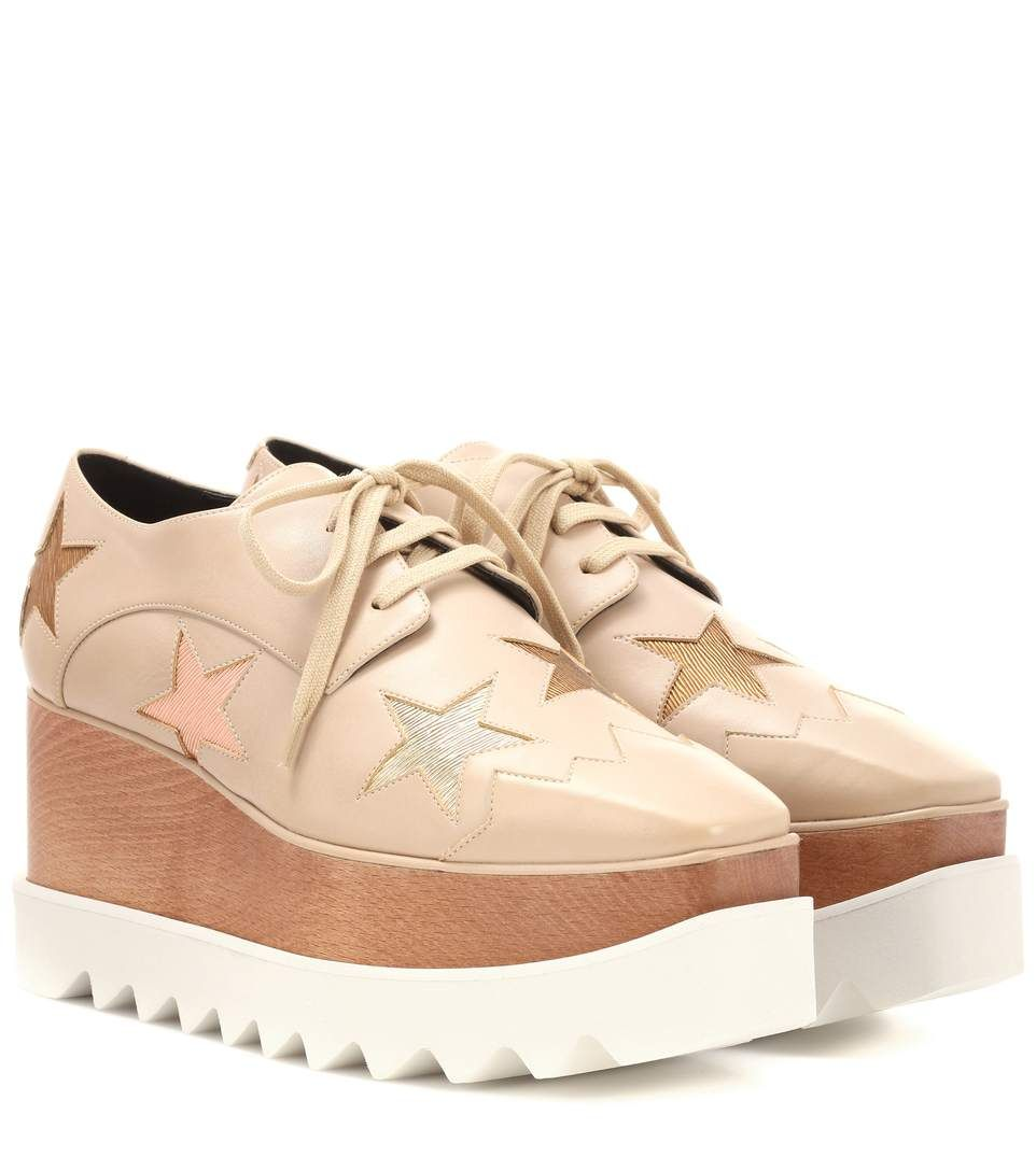 Elyse Metallic Stars Platform Shoes Stella McCartney rLlsNEm