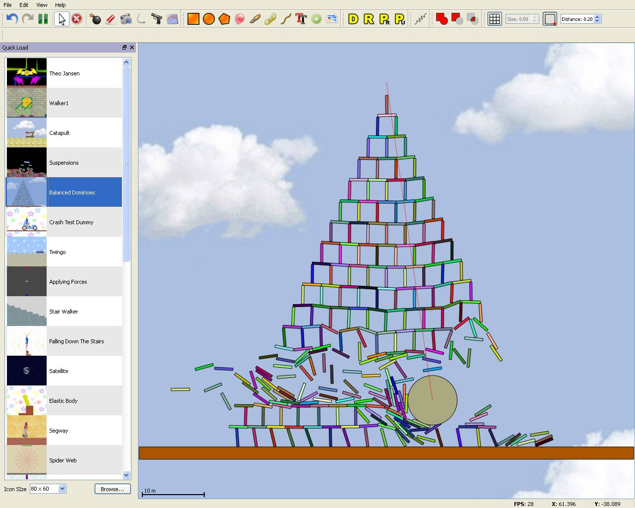 Physion is a 2D Physics simulation software  It can be used to