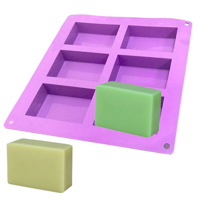 6cavity rectangle soap mold silicone mould tray for