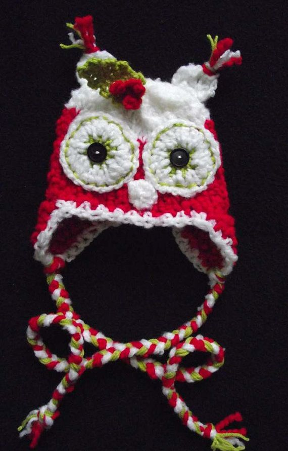 newborn to adult baby owl Christmas hat handmade by May22 on Etsy ...