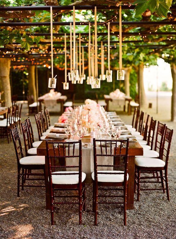 ahhh!! wedding reception under an arbor!