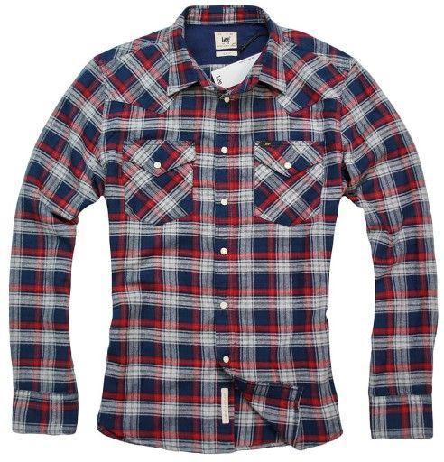 Lee Western Shirt Slim Fit Bright Navy Koszula Xl 7022351081 Oficjalne Archiwum Allegro Western Shirts Shirts Slim Fit