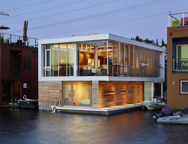 Floating House In Seattle By Vandeventer Carlander Architects