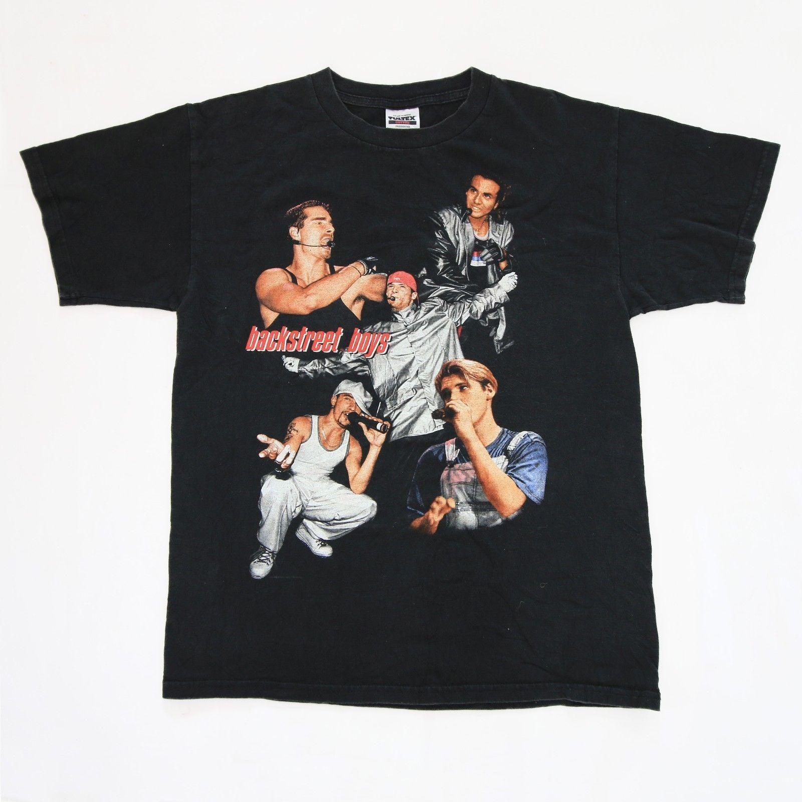 Vtg 90s Backstreet Boys 1998 Backstreets Back T Shirt Nsync Nkotb