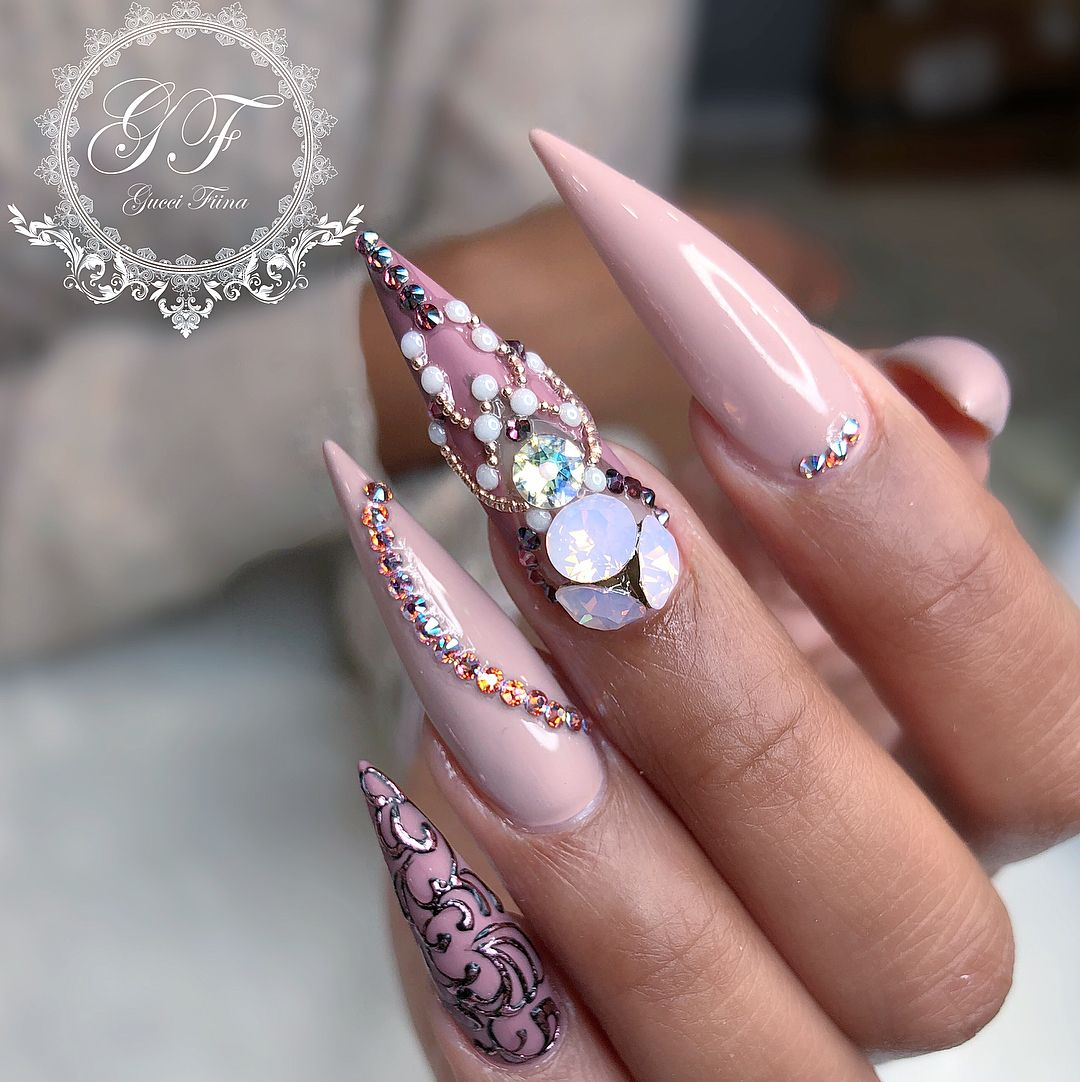 Love these nails | Nails | Pinterest | Nail nail, Make up and Trendy ...