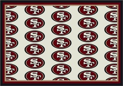 San Francisco 49ers Repeat Logo Area Rug 2 Area Rugs 49ers San Francisco 49ers