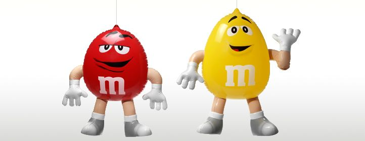 This m&m inflatables for brand promotion always make me smile!