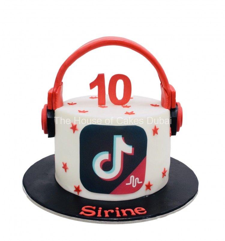 Tiktok Cake 250 The House Of Cakes Dubai 7769 10 Birthday Cake Birthday Cake Girls Cake Designs Birthday