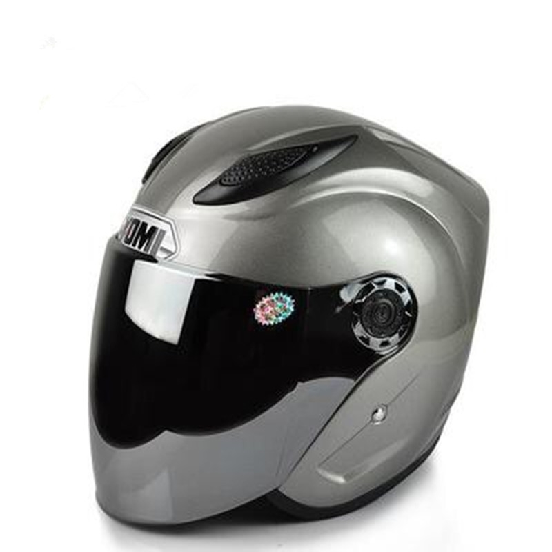 42.53$  Watch now - http://ali10h.shopchina.info/go.php?t=32777768093 - New Style Motorcycle Electric Bicycle Helmet Half Open Face Helmet Double Lenses Racing Motorcycle Helmet Mask Four Seasons   #buyonline