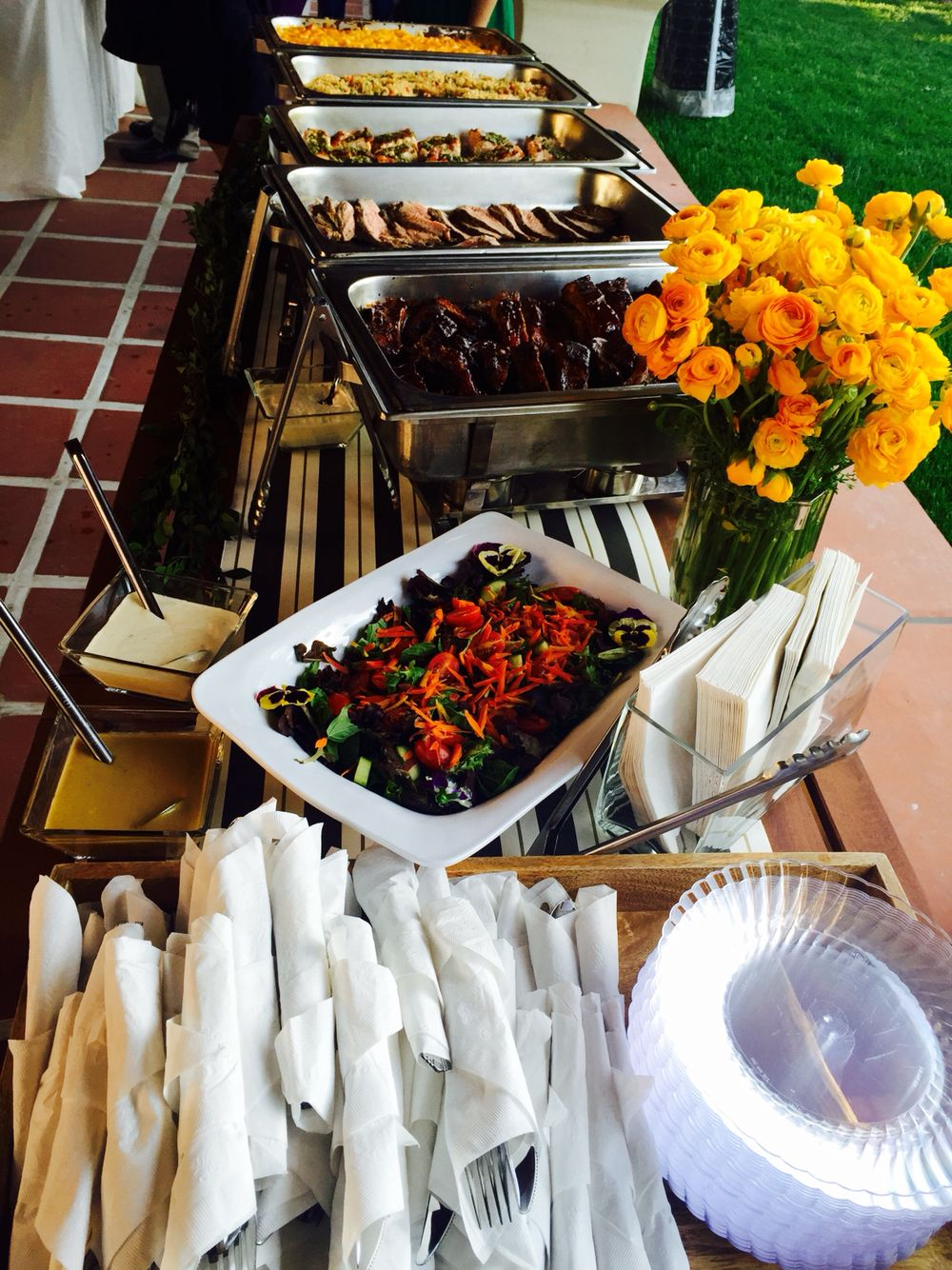 Casual Bbq Buffet Wedding Catering Catering Dinner