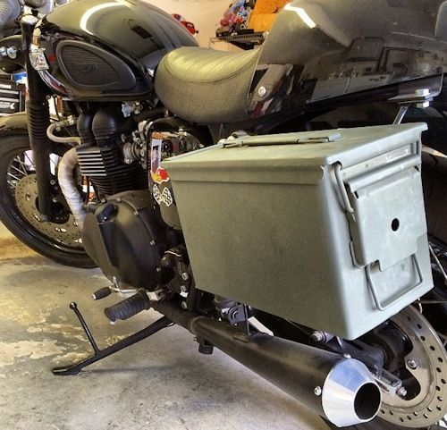 Cafe Racer Tool Pouch Fender