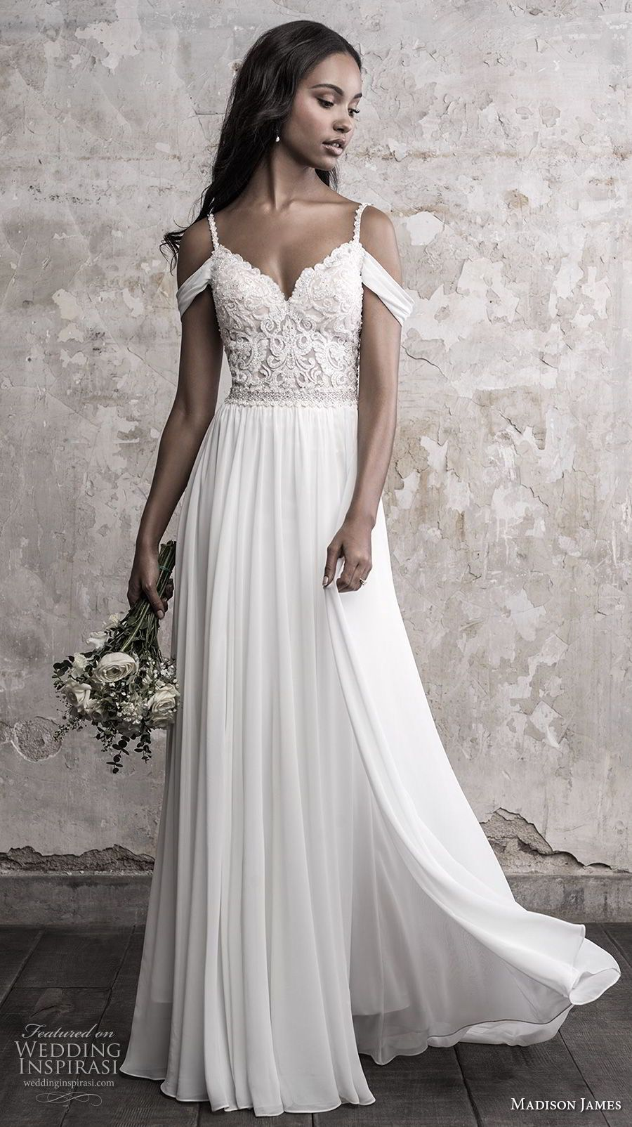 Dress for wedding party 2018  Madison James Fall  Wedding Dresses  Chapel train Wedding