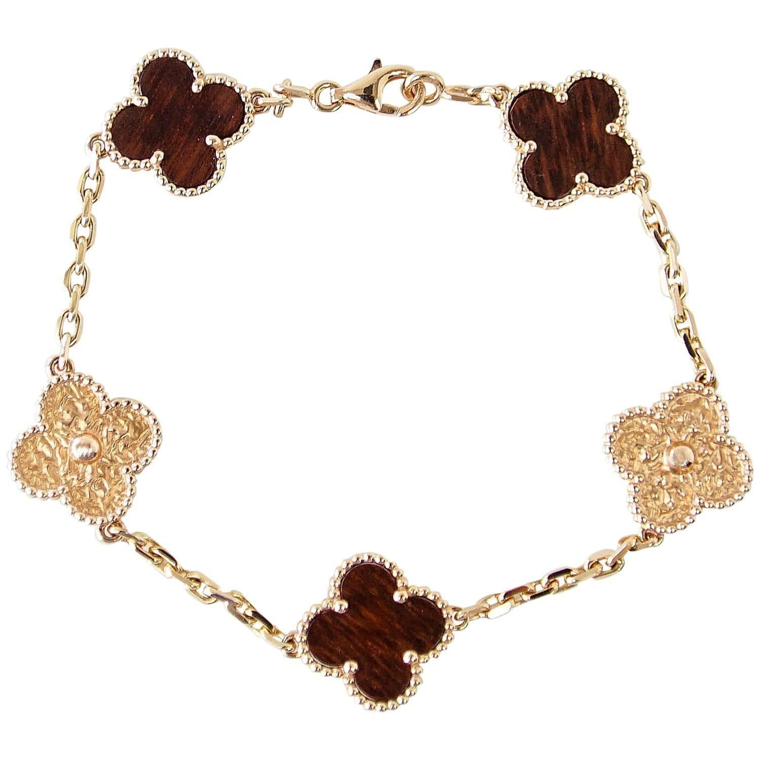 Van cleef and arpels bracelet alhambra collection k rose gold