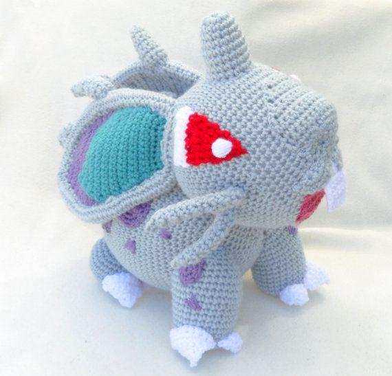 Crochet Nidoran female Pokemon Life Size by TheQuaintCuddlefish ...