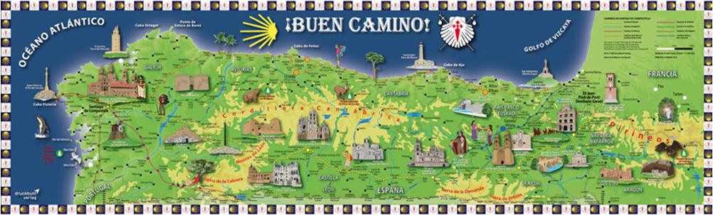(http://www.spanishdoor.com/camino-de-santiago-buen-camino-extra-large-pilgrim-souvenir-poster-map/)