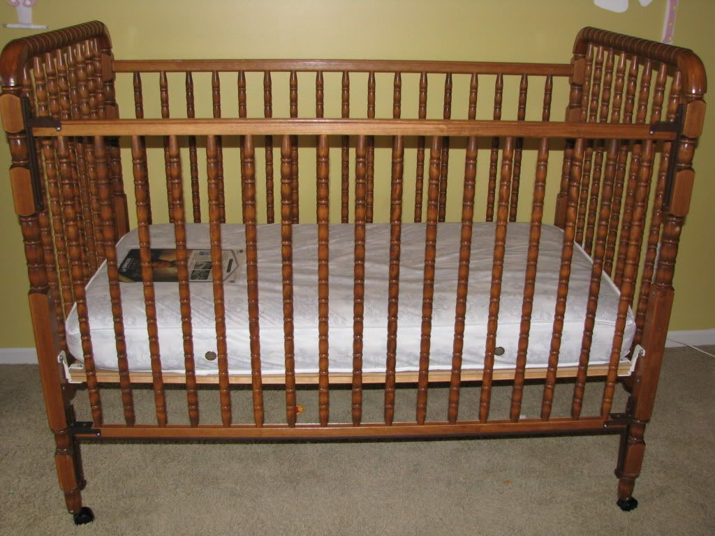 Jenny lind crib for sale - Jenny Lind Crib Medium Brown Color Beautiful Mattress Not Included In Price Of Crib Has Wheels That Can Be Detached And Also Has Three Positions We