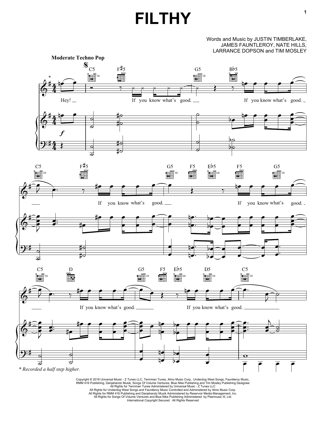 Pink love me anyway piano sheet music