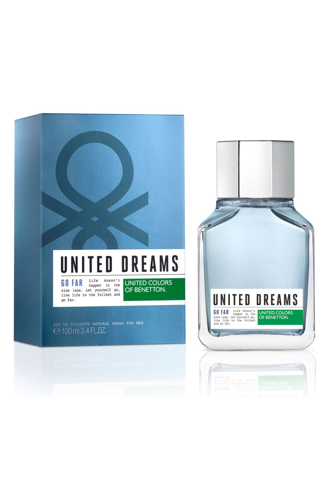 Perfume United Dreams Go Far Man 100ml Perfume Benetton Eau De Toilette
